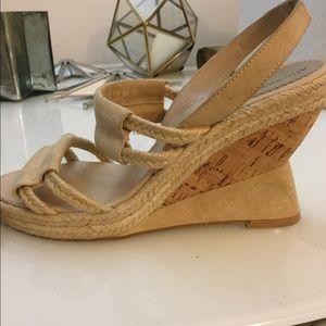 Audrey Brooke Sz8 wedge sisal rope cord sandals